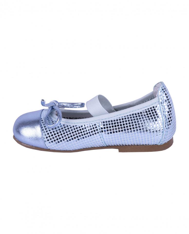Туфли из натуральной перламутровой кожи