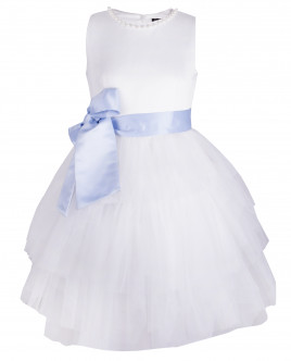 Платье с атласным поясом OUTLET