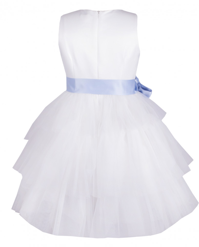 Платье с атласным поясом