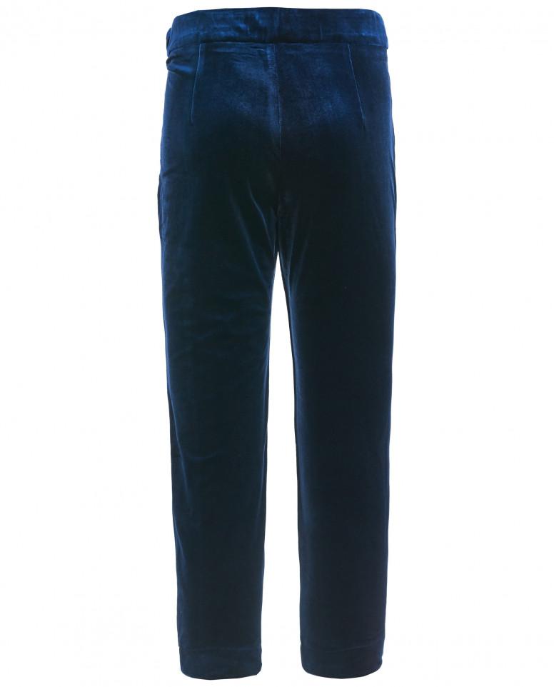 Синие бархатные брюки