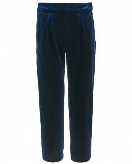 Синие бархатные брюки OUTLET