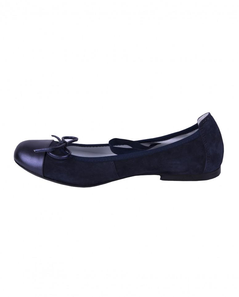 Синие балетки