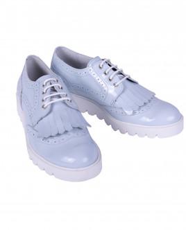 Лаковые голубые ботинки OUTLET