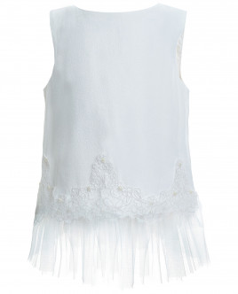 Блузка с отделкой из кружева и сетки OUTLET