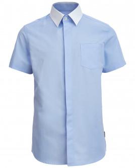 Голубая рубашка с коротким рукавом OUTLET