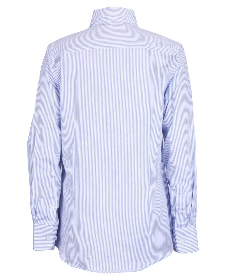 Рубашка в голубую полоску