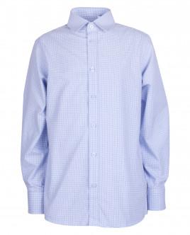 Голубая рубашка в клетку OUTLET
