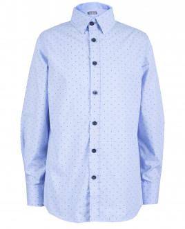 Голубая рубашка в горошек OUTLET