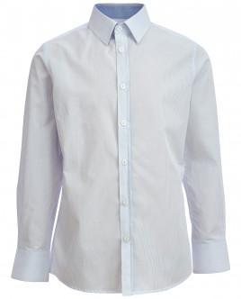 Хлопковая рубашка в голубую полоску OUTLET