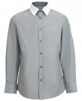 Серая рубашка с белым воротником OUTLET