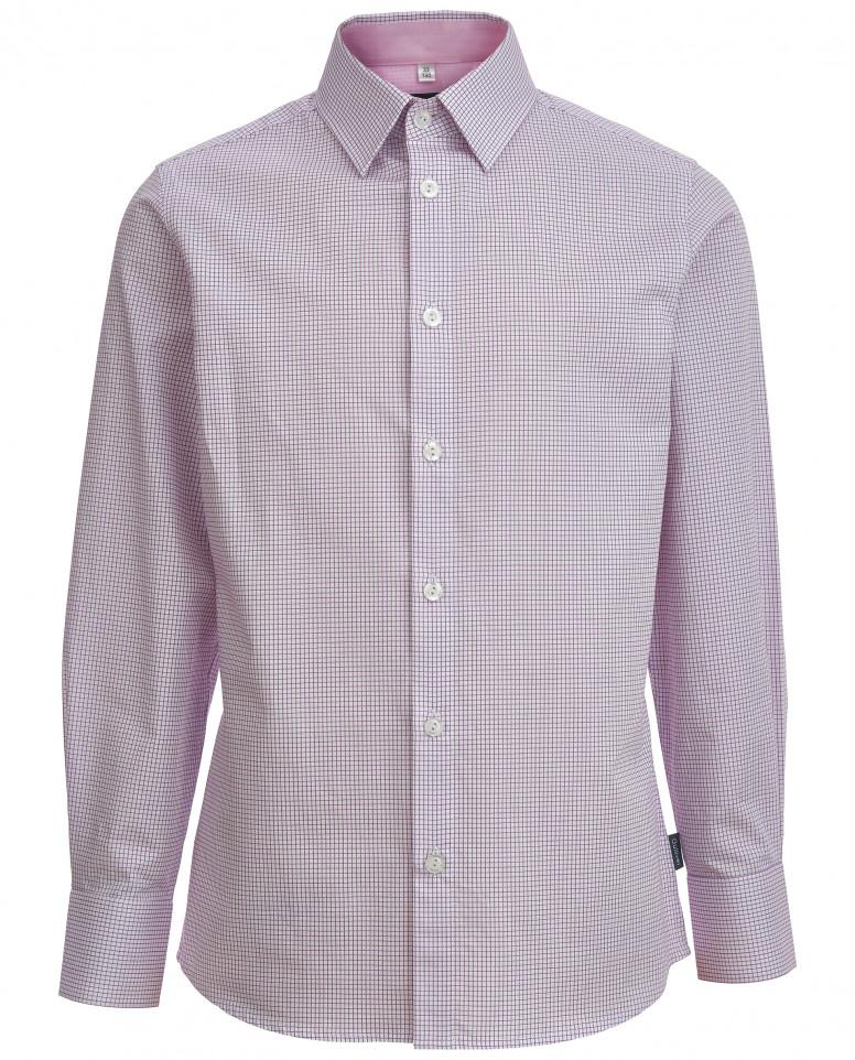Рубашка в розовую клетку Gulliver