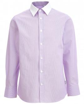 Рубашка в сиреневую полоску Gulliver OUTLET