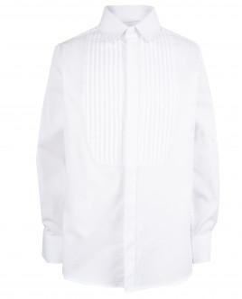 Белая рубашка с защипами OUTLET