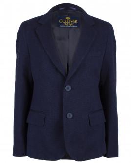 Твидовый синий пиджак OUTLET