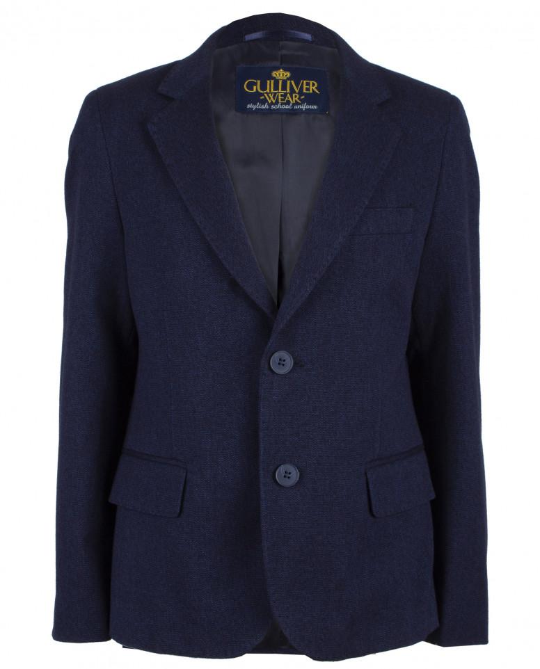 Твидовый синий пиджак