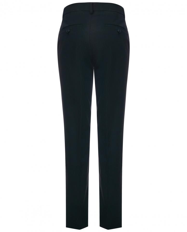 Черные брюки с регулировкой по талии