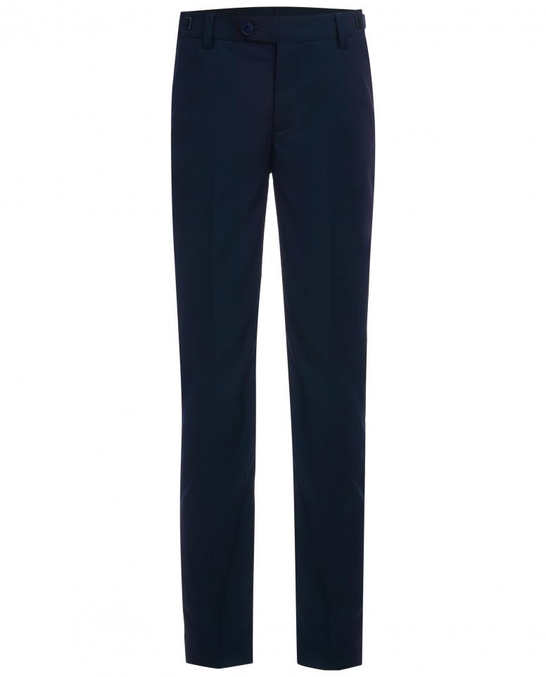 Синие брюки с регулировкой по талии