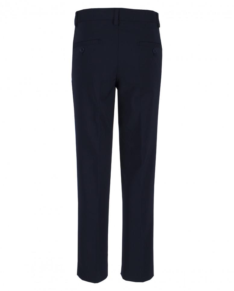 Темно-синие классические брюки