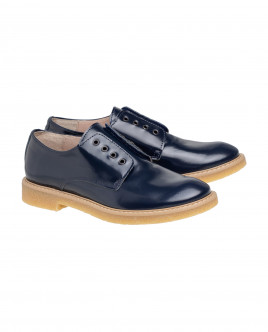 Blue leather Velcro shoes Gulliver