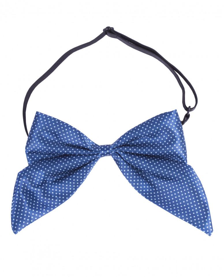 Голубой галстук-бабочка