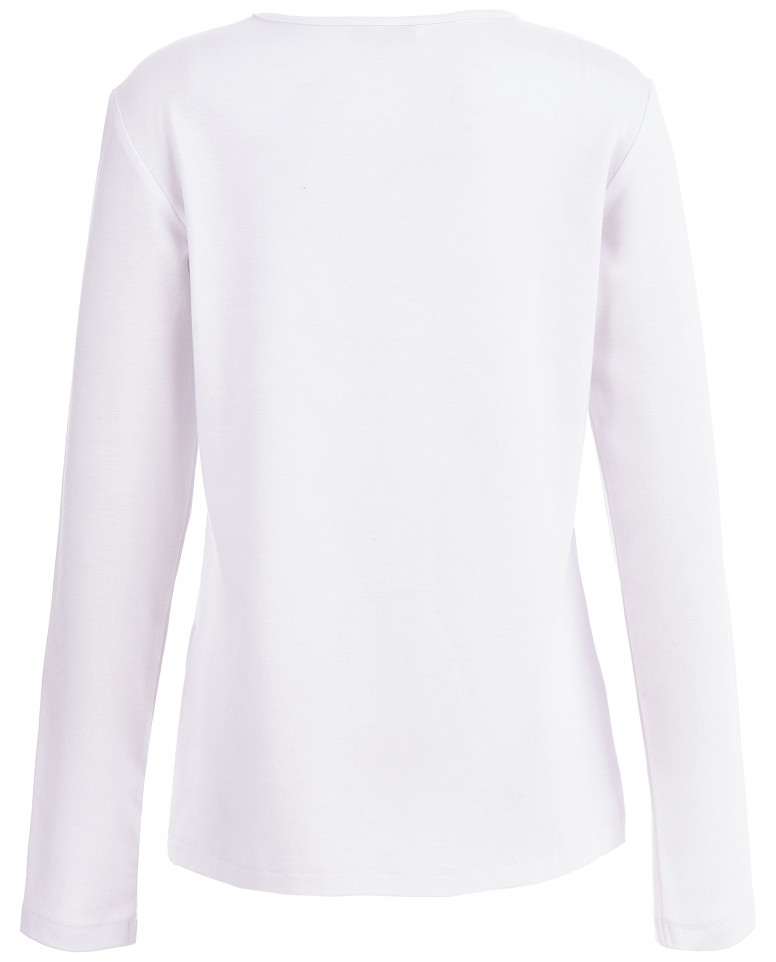 Белая блузка со стразами
