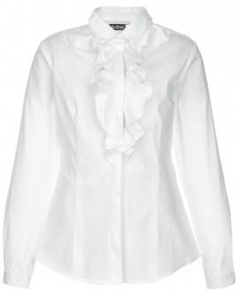 Белая блузка с воланами OUTLET