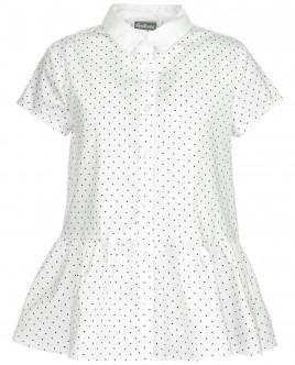Блузка с коротким рукавом в горошек OUTLET