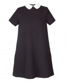 Черное платье с коротким рукавом OUTLET