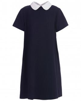 Синее платье с коротким рукавом OUTLET