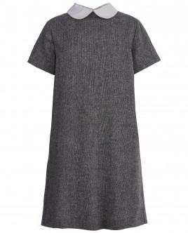Серое платье с коротким рукавом OUTLET