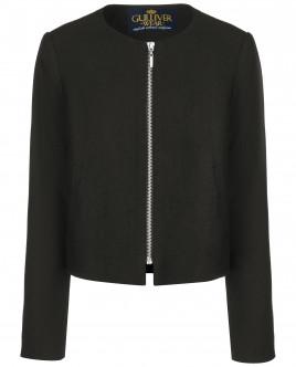 Черный пиджак на молнии OUTLET