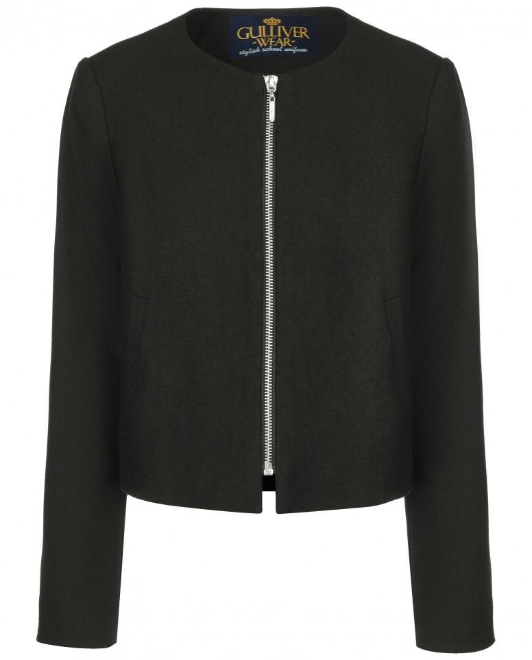 Черный пиджак на молнии