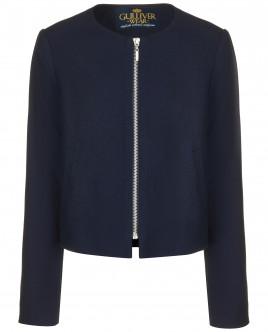 Синий пиджак на молнии OUTLET