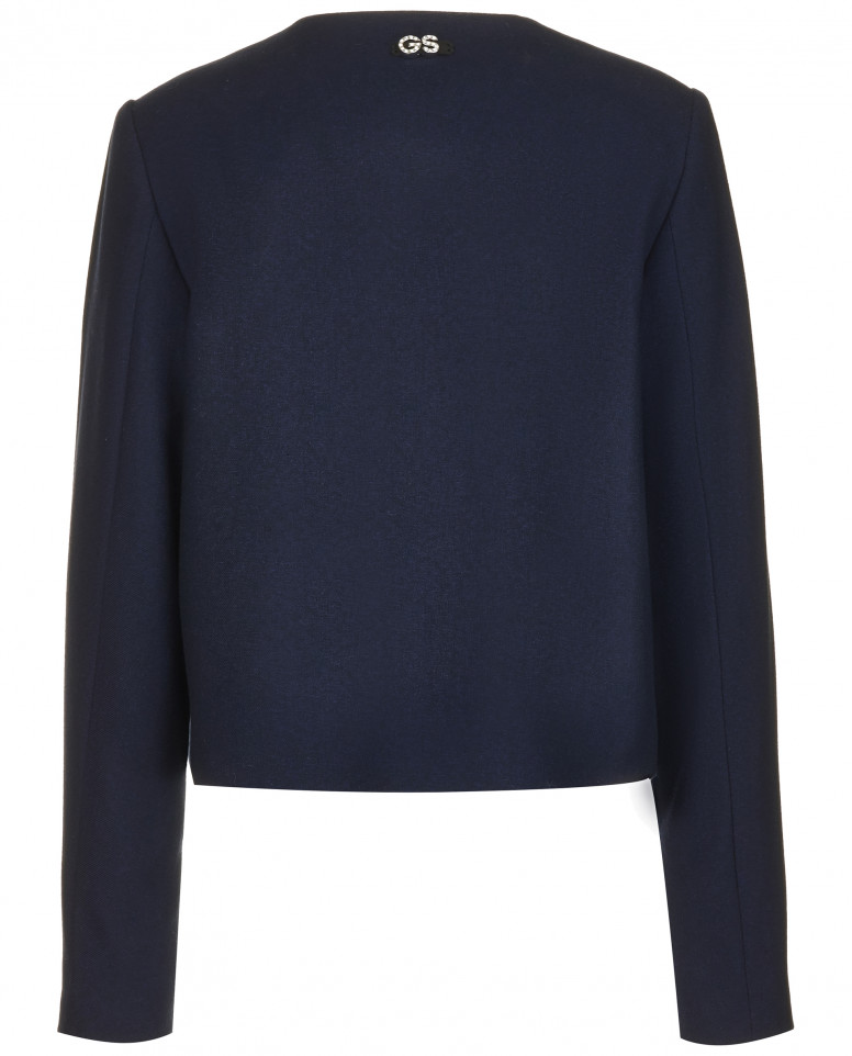 Синий пиджак на молнии