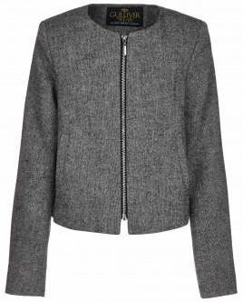 Серый пиджак на молнии OUTLET