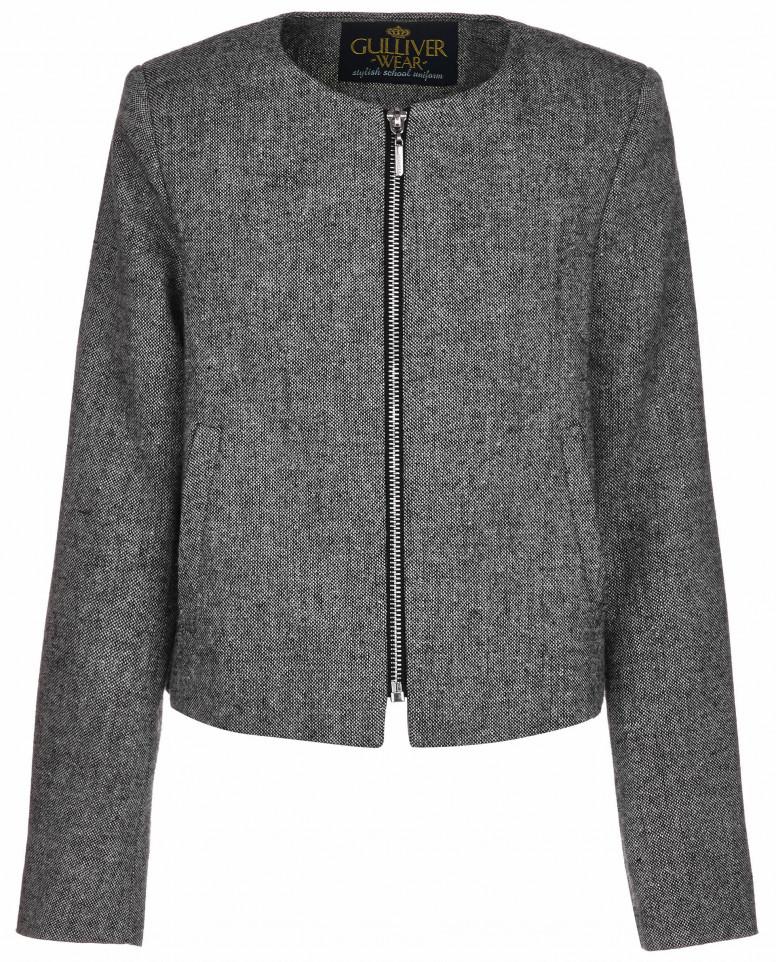 Серый пиджак на молнии