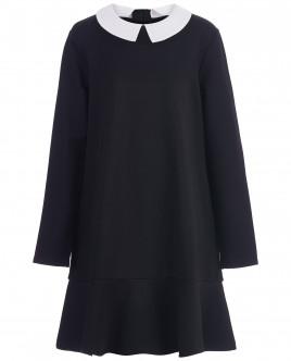Черное платье с длинным рукавом OUTLET