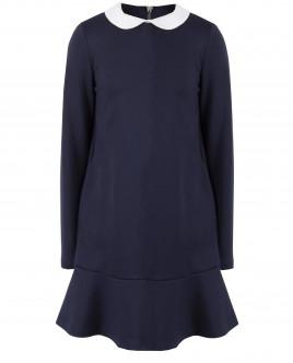 Синее платье с длинным рукавом OUTLET