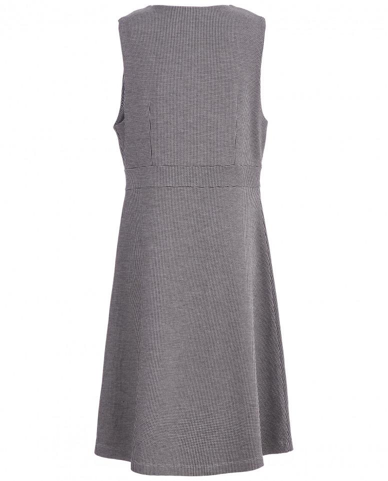 Серый приталенный сарафан