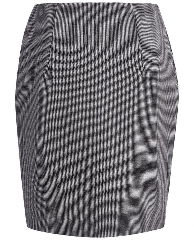 Серая узкая юбка