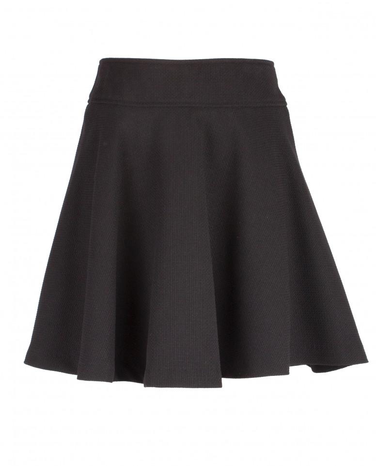 Черная юбка-клеш