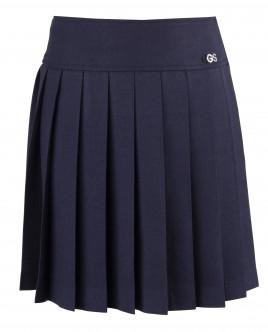 Синяя юбка в складку OUTLET
