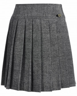Серая юбка в складку OUTLET