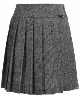Серая юбка в складку Gulliver OUTLET