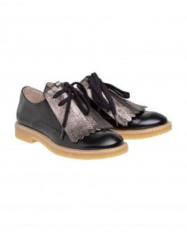 Black leather shoes Gulliver