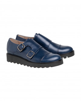 Blue leather shoes Gulliver