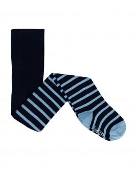 Синие полосатые колготки 21900BBC8403 фото