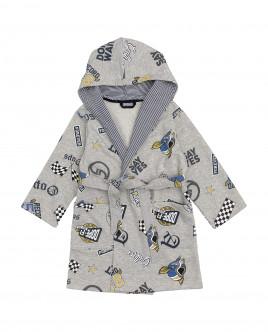 Серый халат для мальчика Gulliver