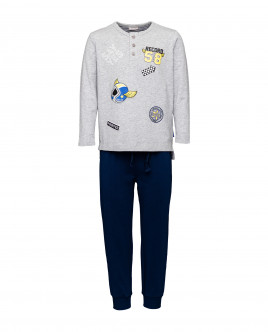 Boys' blue and grey pajamas Gulliver