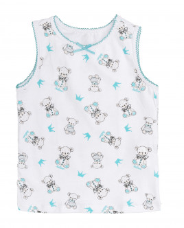 White printed tank top Gulliver